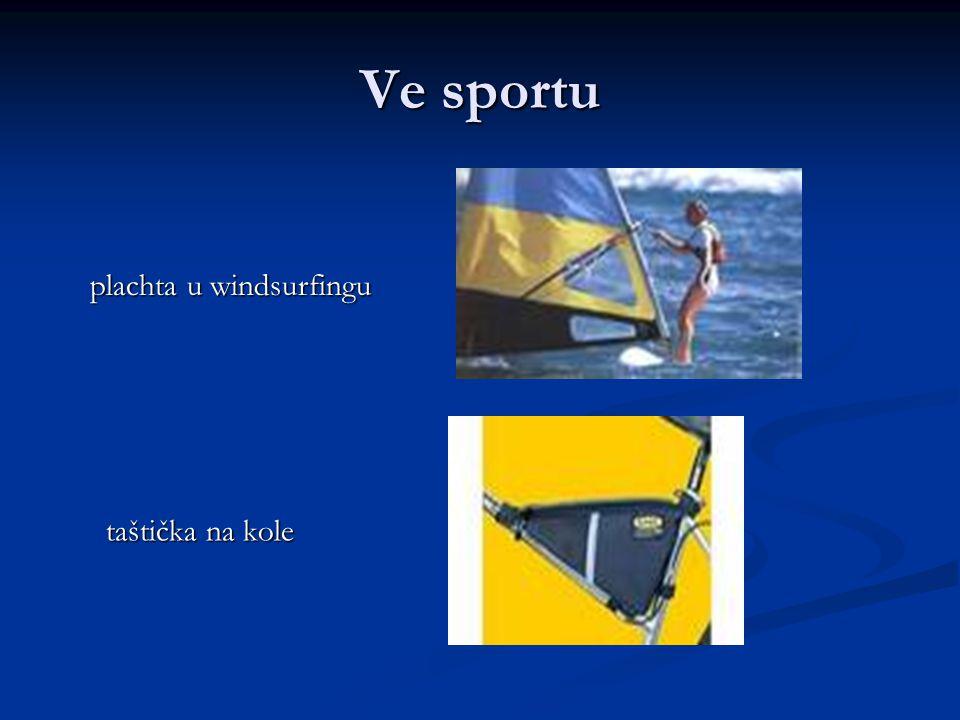 Ve sportu plachta u windsurfingu taštička na kole