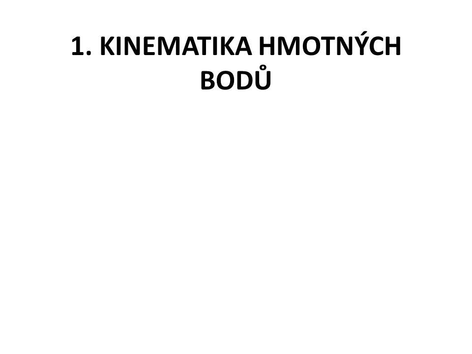 1. KINEMATIKA HMOTNÝCH BODŮ
