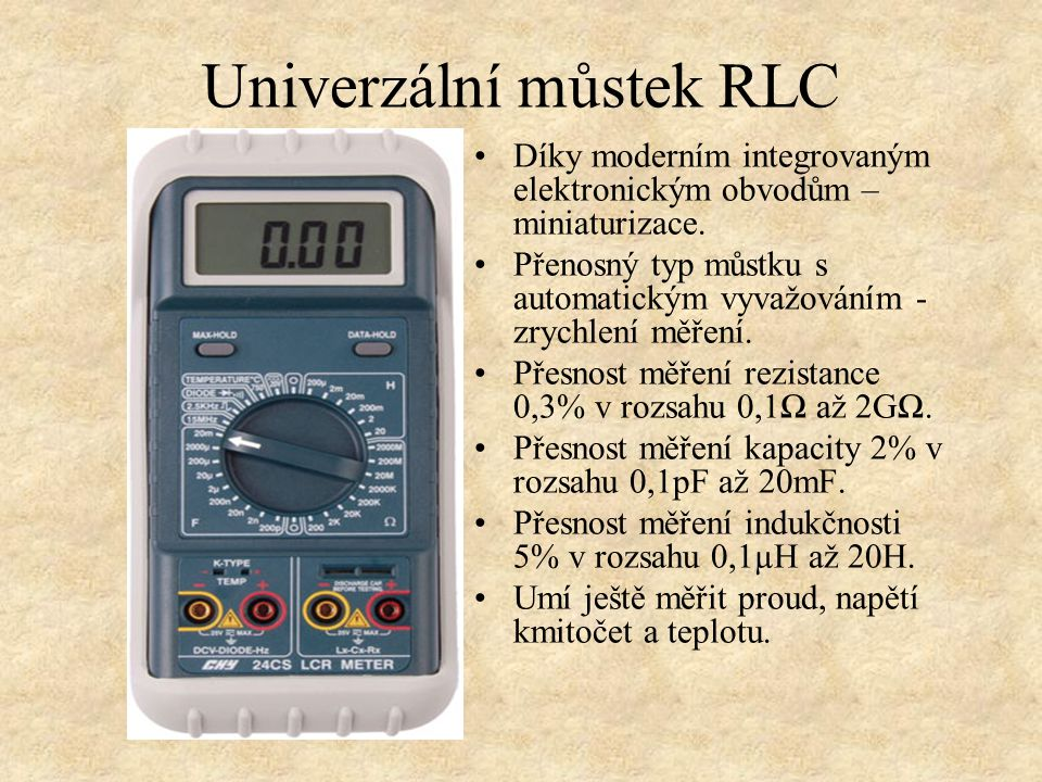 Univerzální můstek RLC