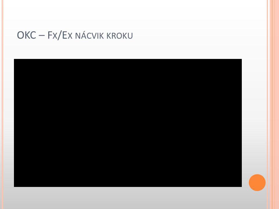 OKC – Fx/Ex nácvik kroku