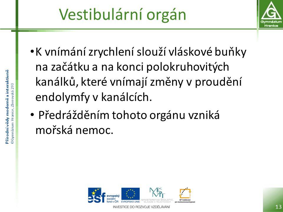 Vestibulární orgán