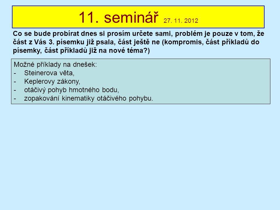 11. seminář 27. 11. 2012