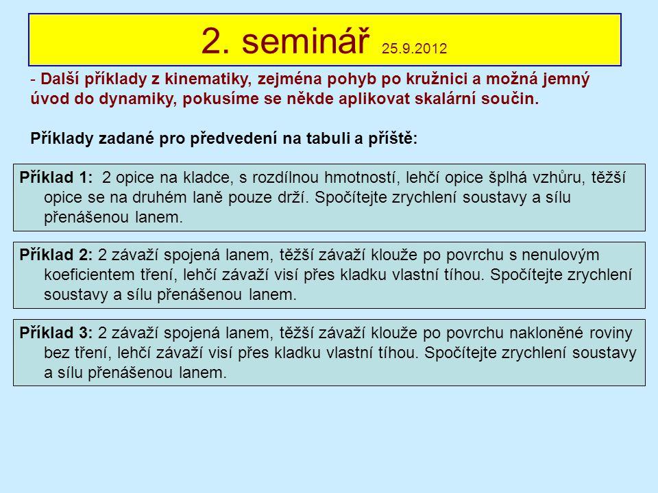 2. seminář 25.9.2012