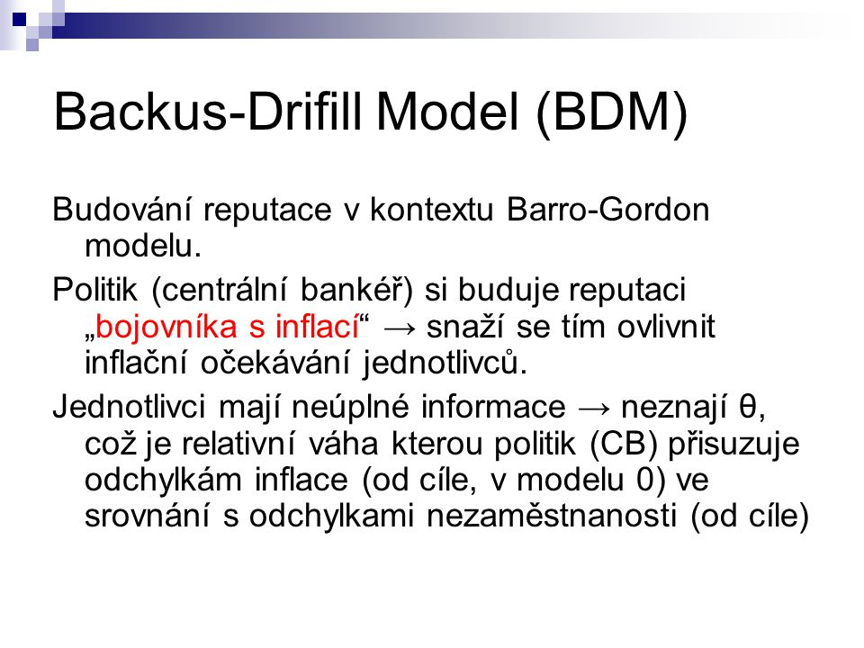 Backus-Drifill Model (BDM)
