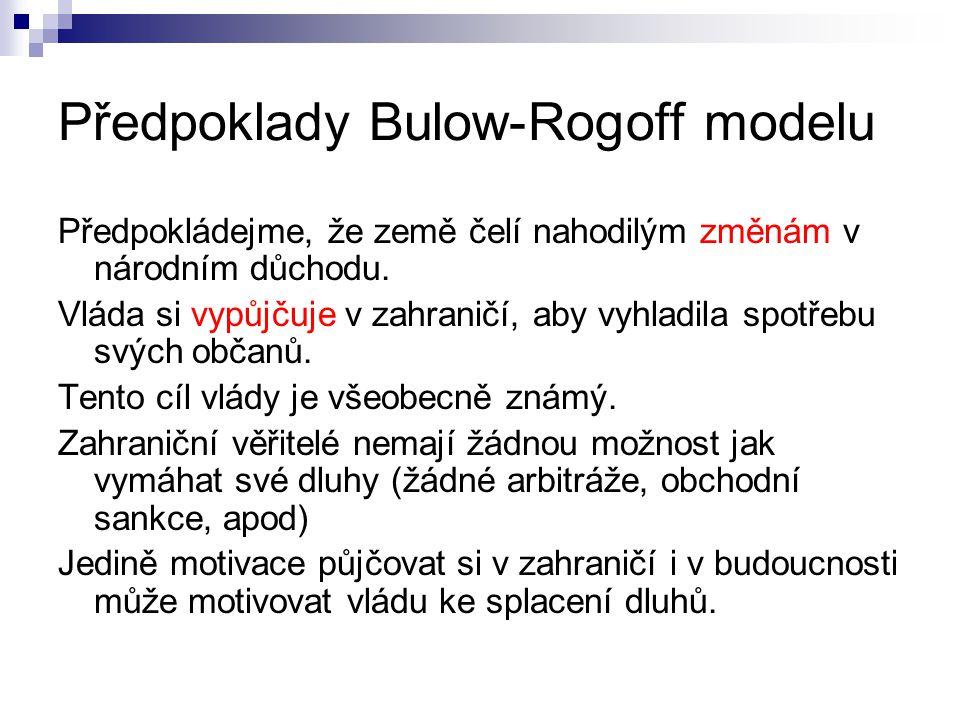 Předpoklady Bulow-Rogoff modelu