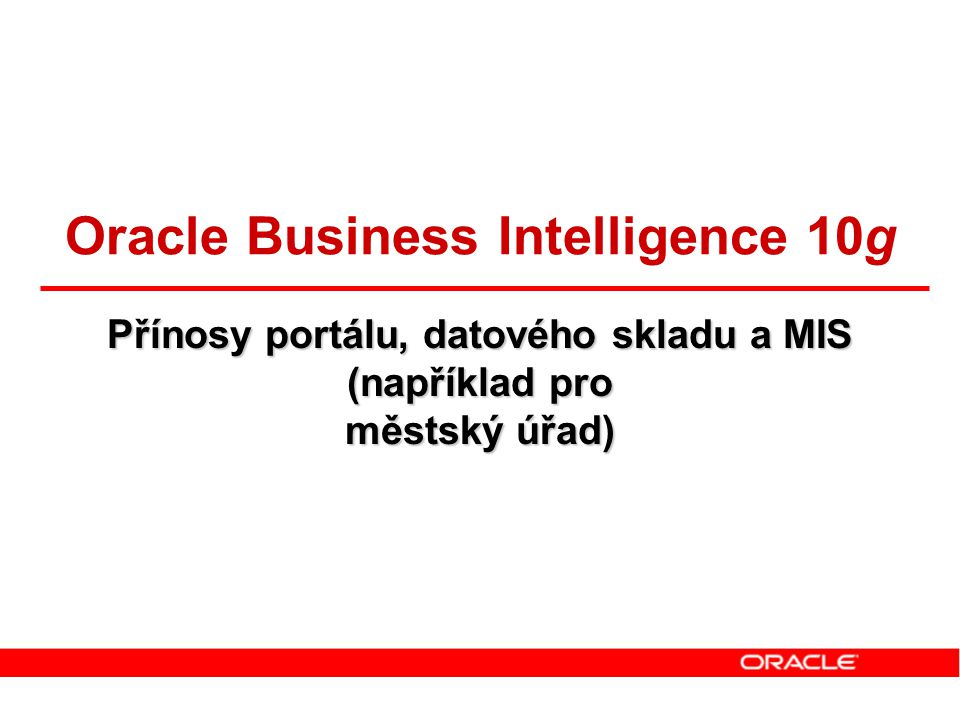Oracle Business Intelligence 10g