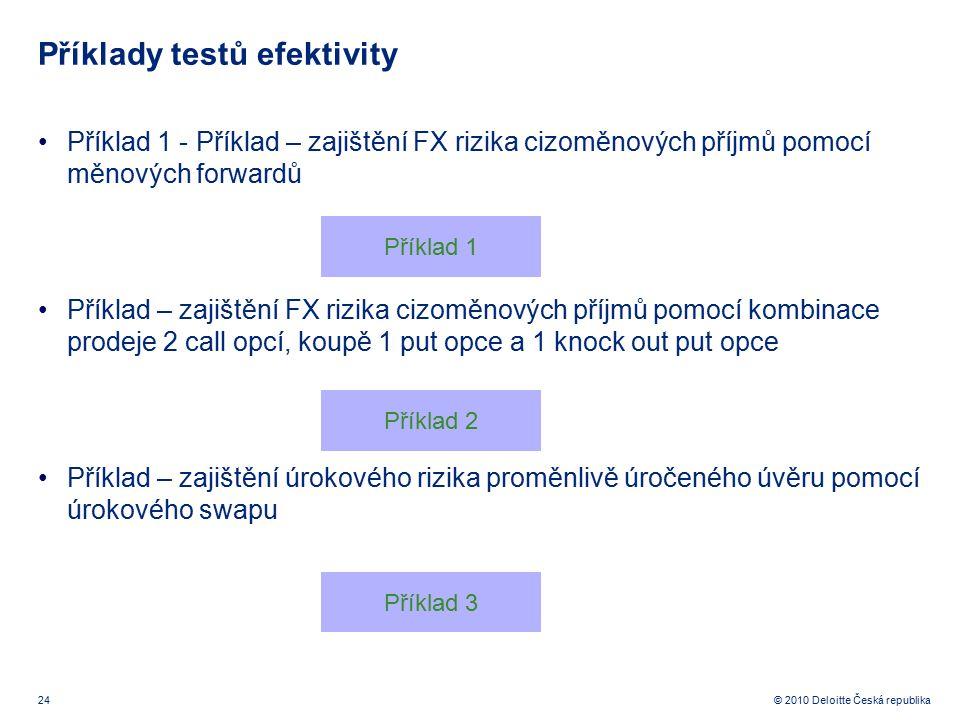 Příklady testů efektivity