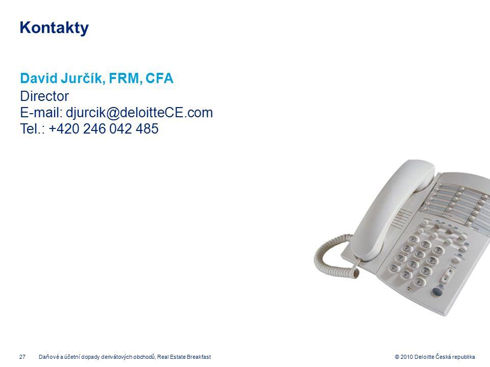 Kontakty David Jurčík, FRM, CFA Director
