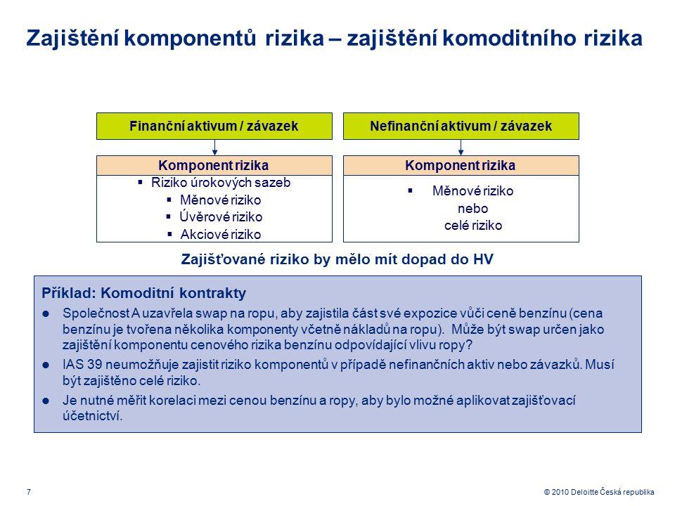 Zajištění komponentů rizika – zajištění komoditního rizika