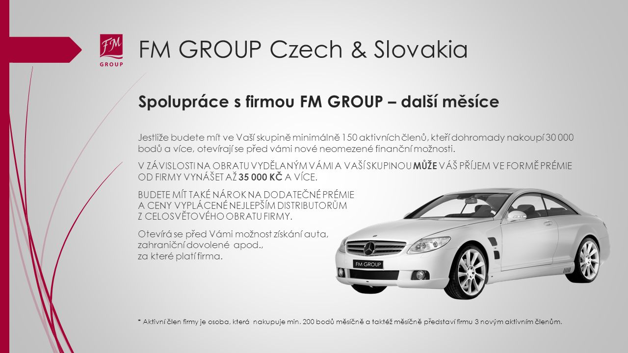 Spolupráce s firmou FM GROUP – další měsíce