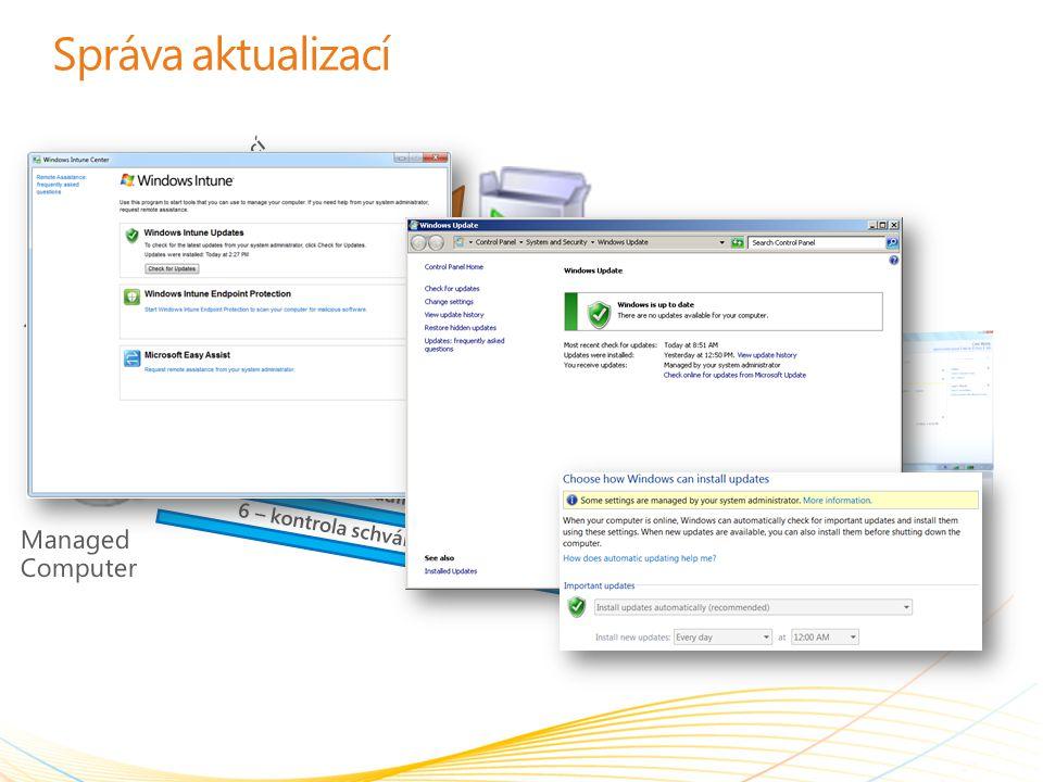 Správa aktualizací Microsoft Update Service Managed Computer