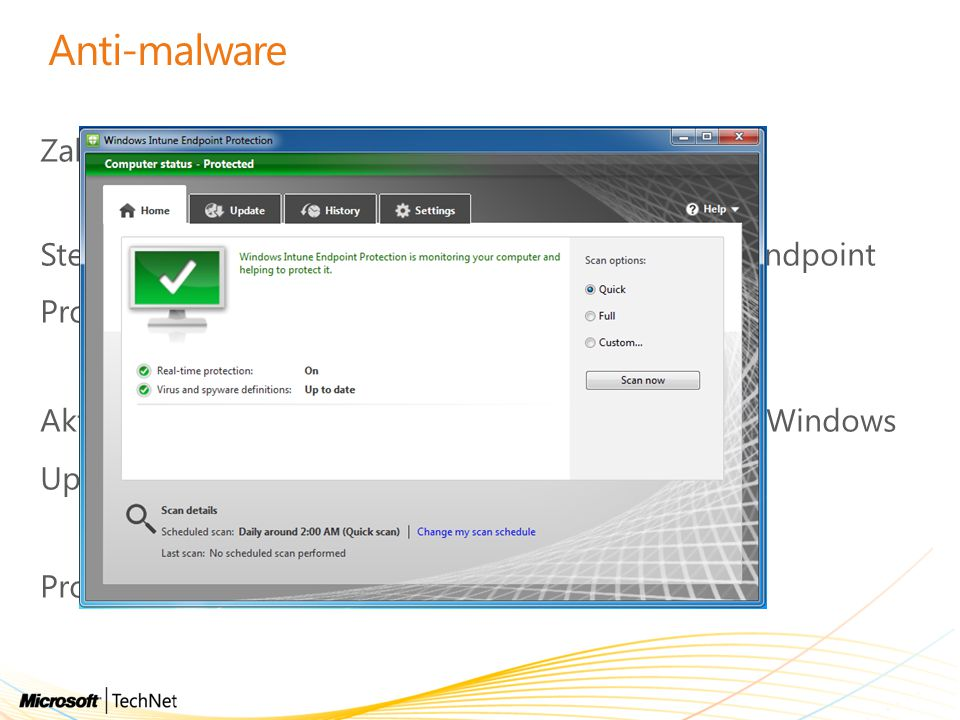 Anti-malware Založeno na Microsoft Malware Protection Engine