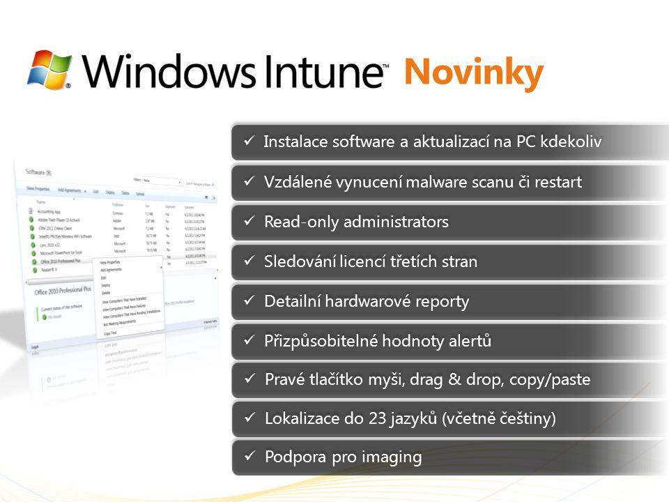 Novinky Instalace software a aktualizací na PC kdekoliv