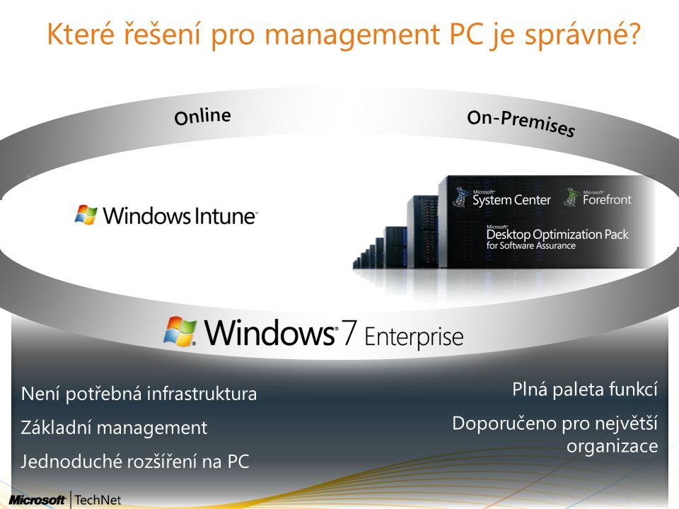 Které řešení pro management PC je správné