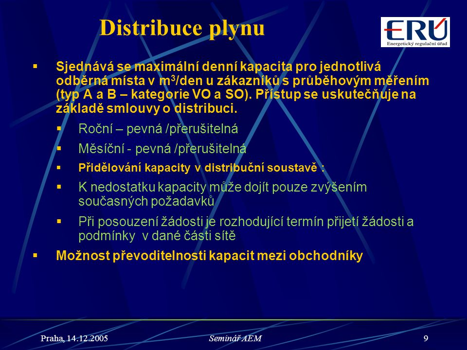 Distribuce plynu