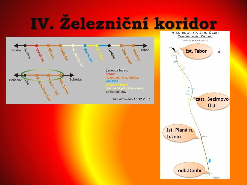 IV. Železniční koridor žst. Tábor žst. Planá n. Lužnicí