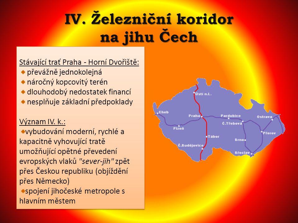 IV. Železniční koridor na jihu Čech