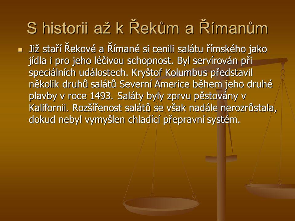 S historii až k Řekům a Římanům