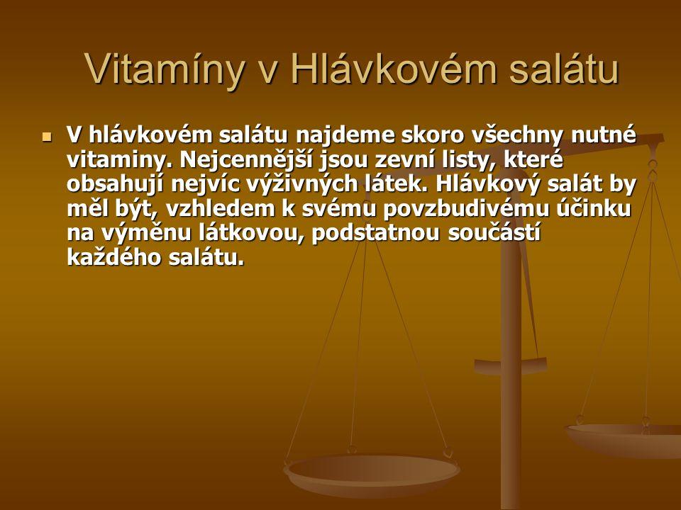 Vitamíny v Hlávkovém salátu