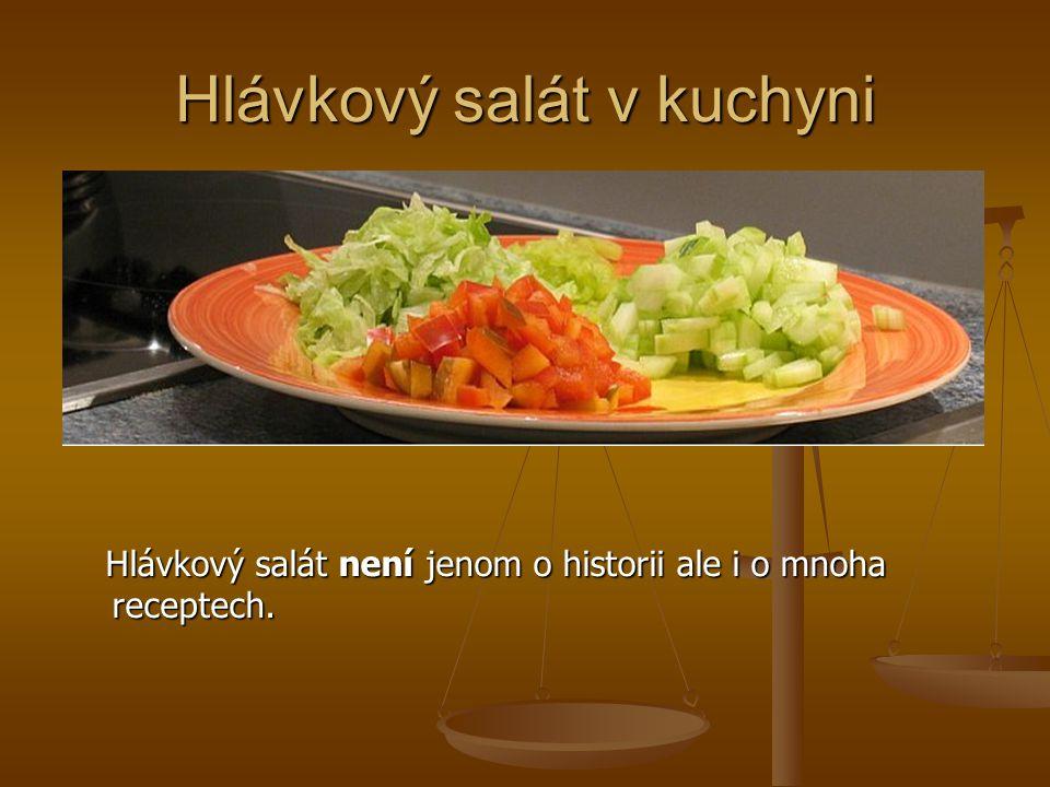 Hlávkový salát v kuchyni