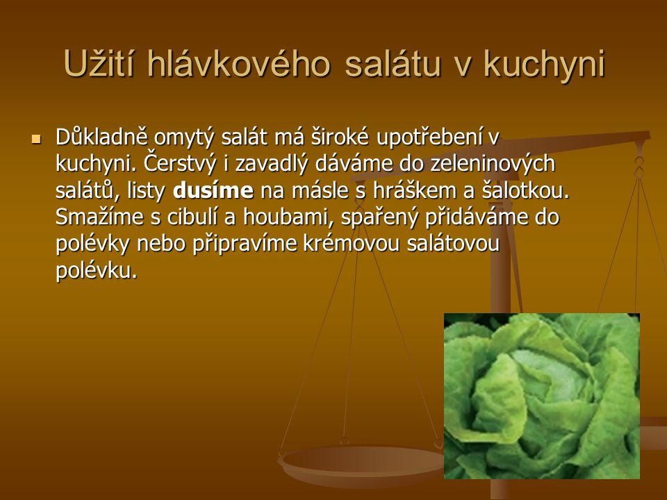 Užití hlávkového salátu v kuchyni