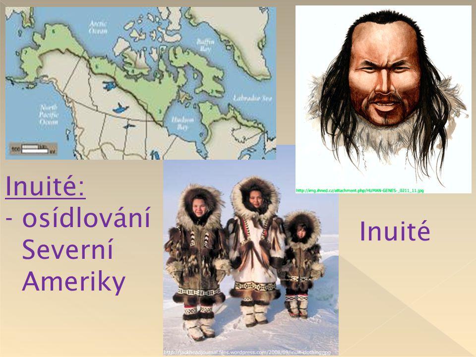 Inuité: - osídlování Severní Ameriky Inuité