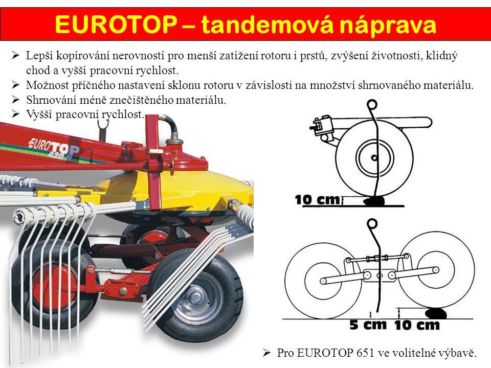 EUROTOP – tandemová náprava
