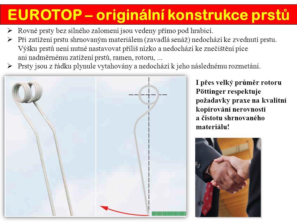 EUROTOP – originální konstrukce prstů