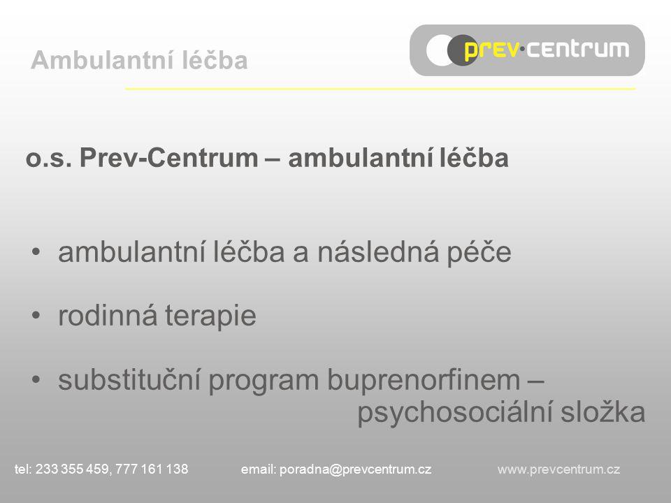 o.s. Prev-Centrum – ambulantní léčba