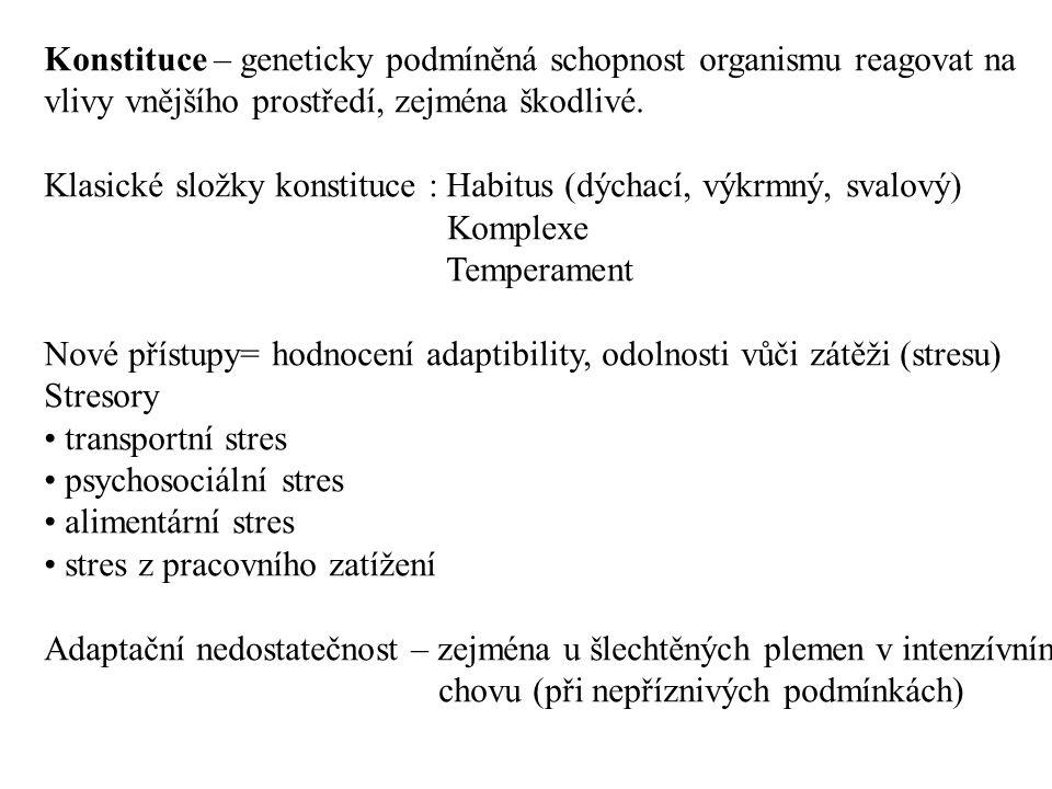 Konstituce – geneticky podmíněná schopnost organismu reagovat na