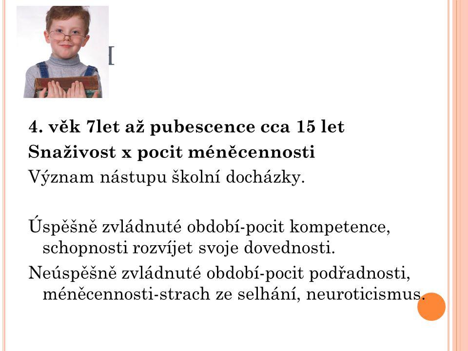 Erik H 4. věk 7let až pubescence cca 15 let