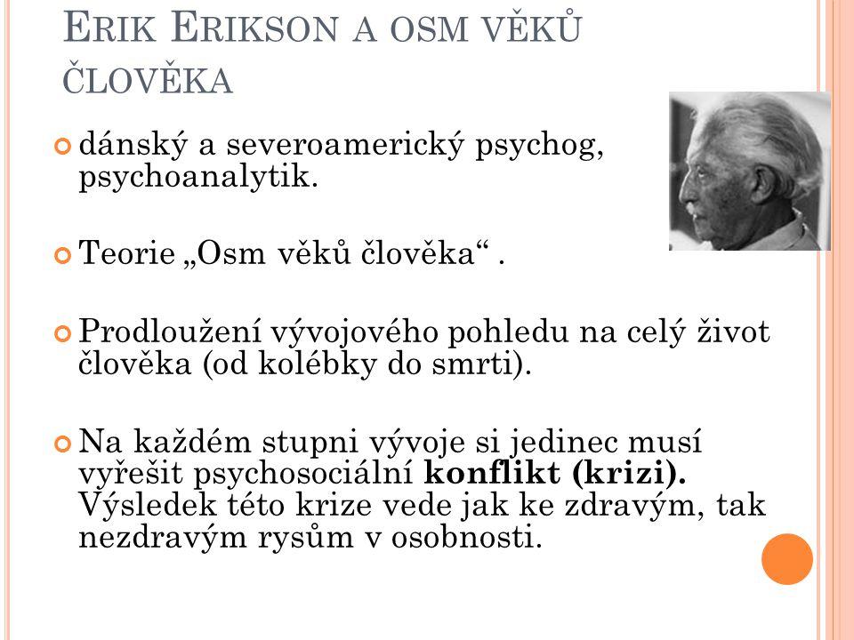 Erik Erikson a osm věků člověka
