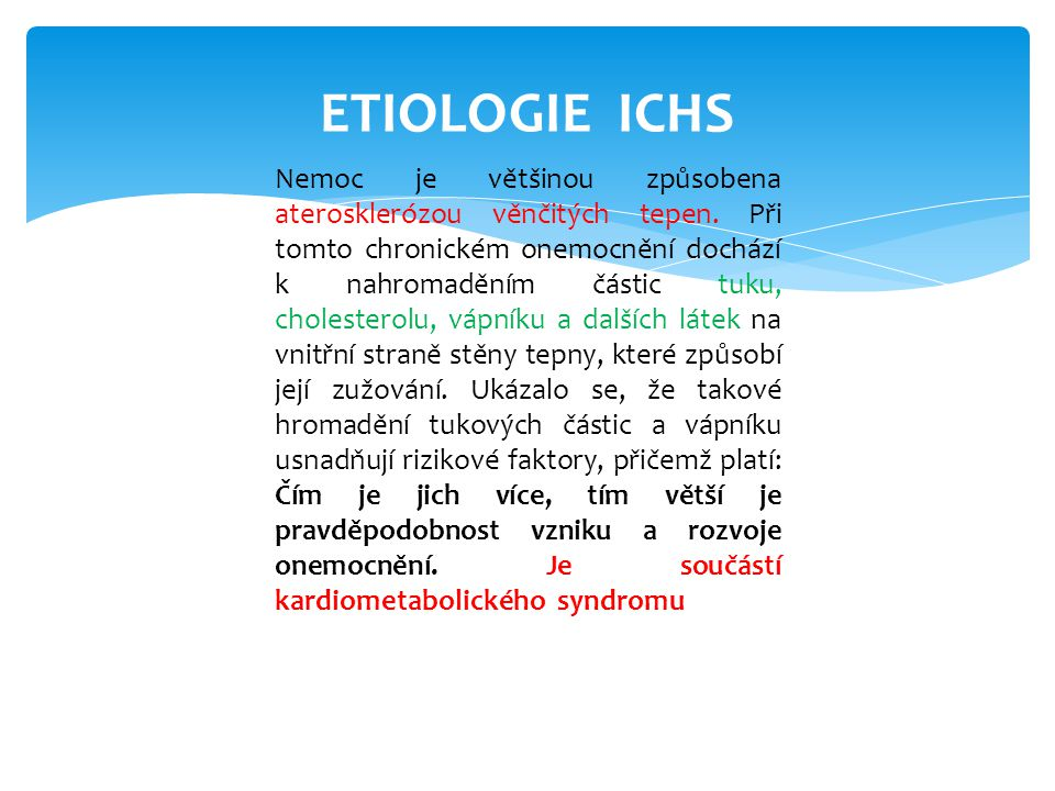ETIOLOGIE ICHS