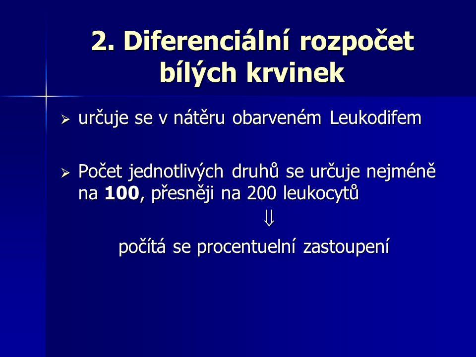 2. Diferenciální rozpočet bílých krvinek