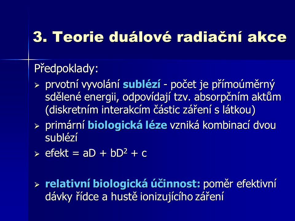 3. Teorie duálové radiační akce
