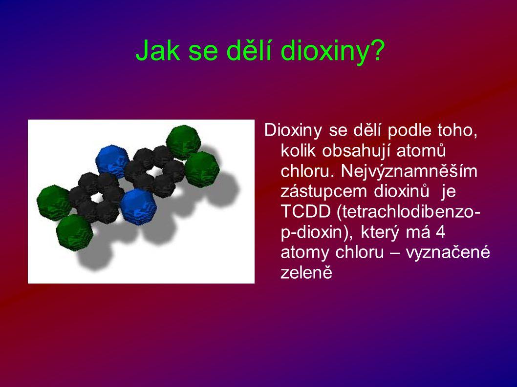 Jak se dělí dioxiny