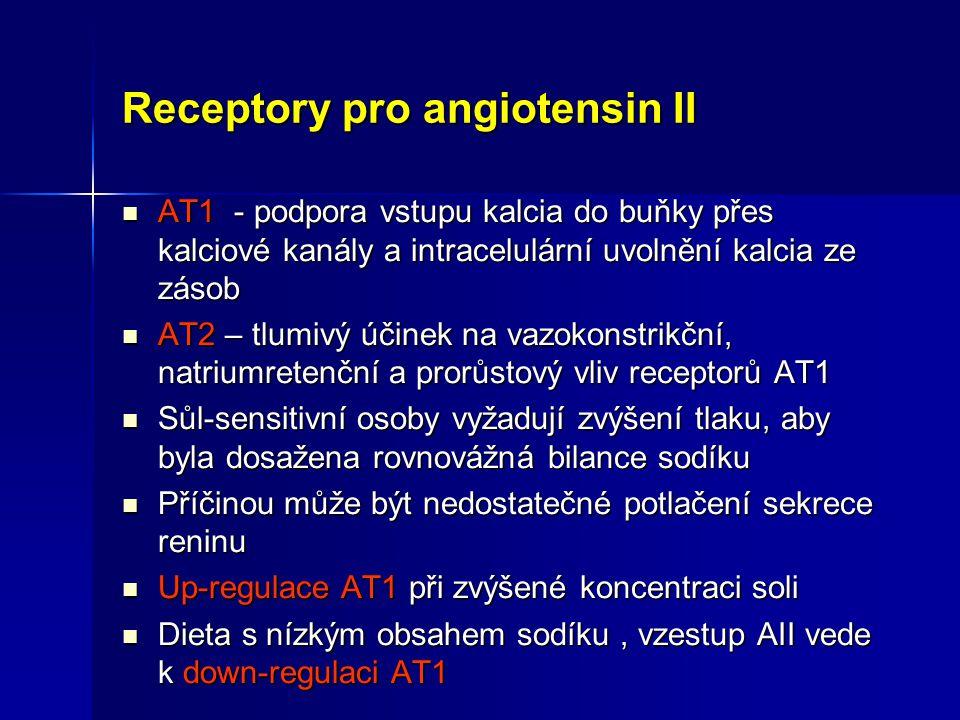 Receptory pro angiotensin II