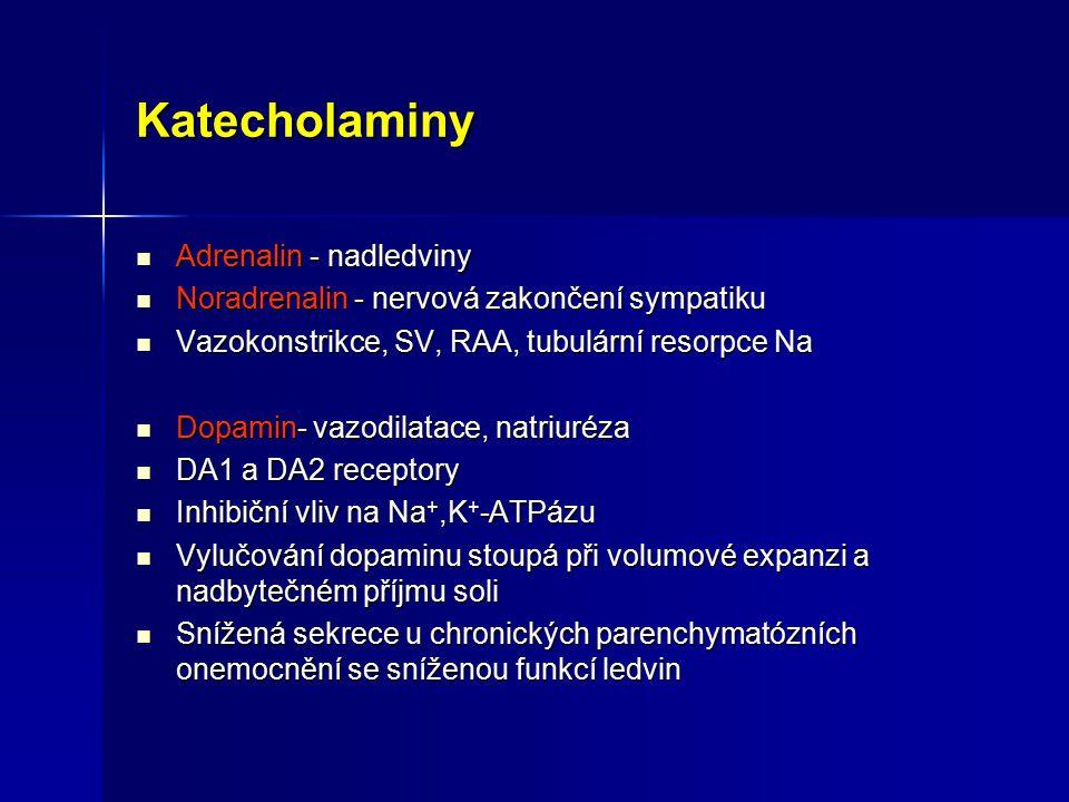 Katecholaminy Adrenalin - nadledviny