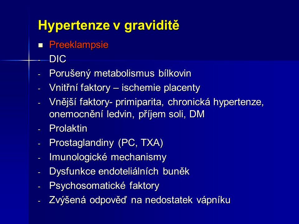 Hypertenze v graviditě