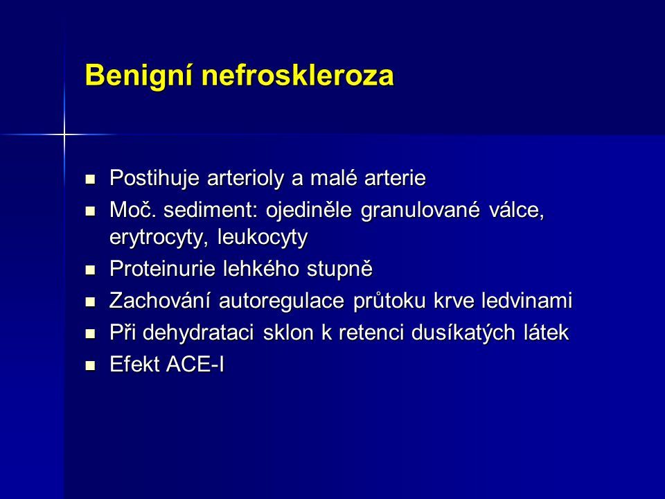 Benigní nefroskleroza