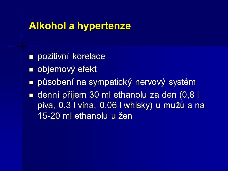 Alkohol a hypertenze pozitivní korelace objemový efekt