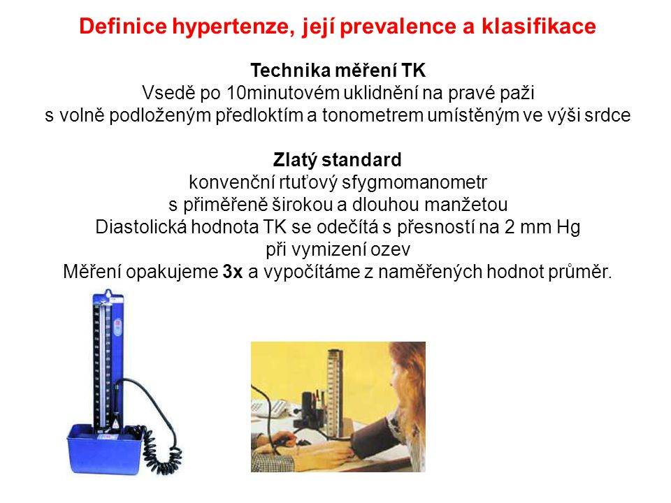 Definice hypertenze, její prevalence a klasifikace