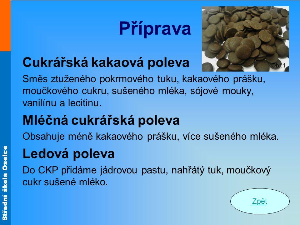 Příprava Cukrářská kakaová poleva Mléčná cukrářská poleva