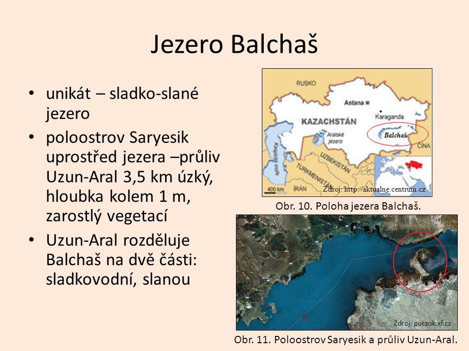 Jezero Balchaš unikát – sladko-slané jezero