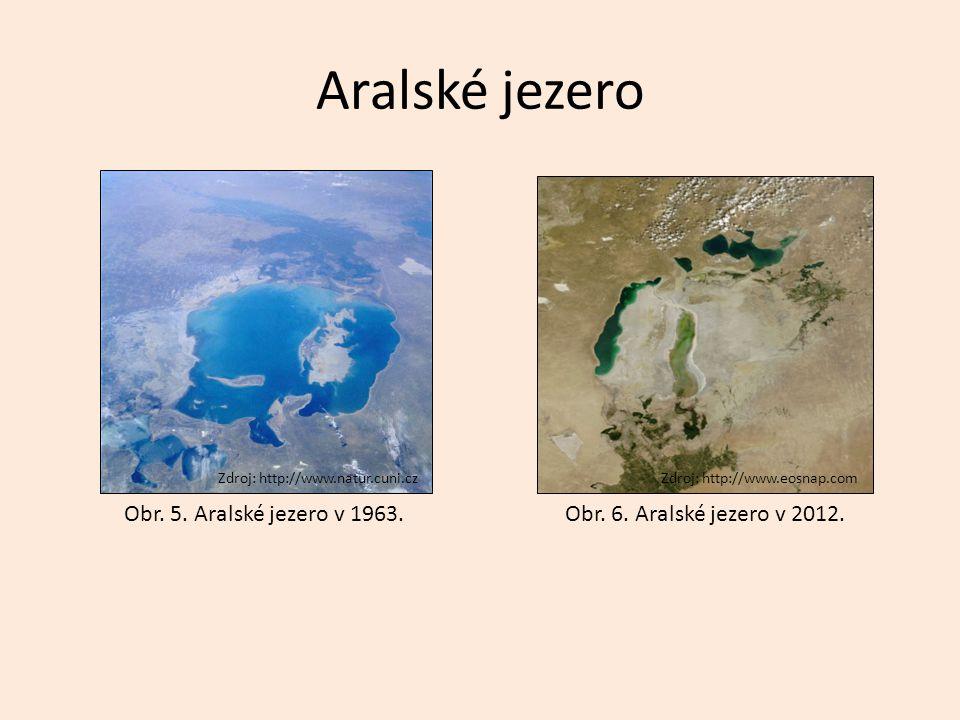 Aralské jezero Obr. 5. Aralské jezero v 1963.