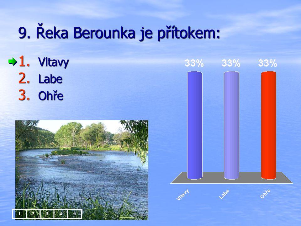 9. Řeka Berounka je přítokem:
