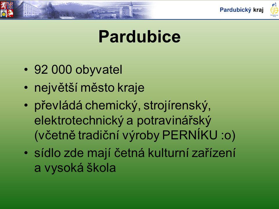 Pardubice 92 000 obyvatel největší město kraje