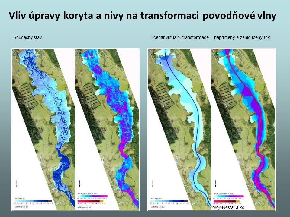Vliv úpravy koryta a nivy na transformaci povodňové vlny