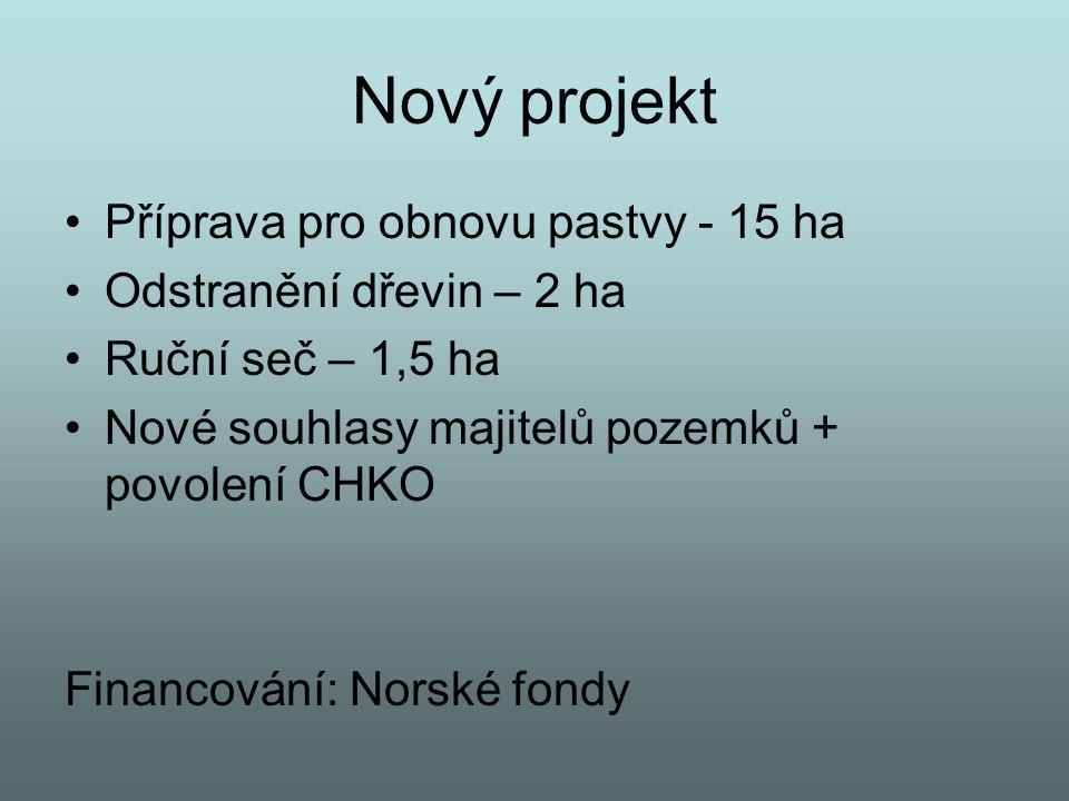 Nový projekt Příprava pro obnovu pastvy - 15 ha