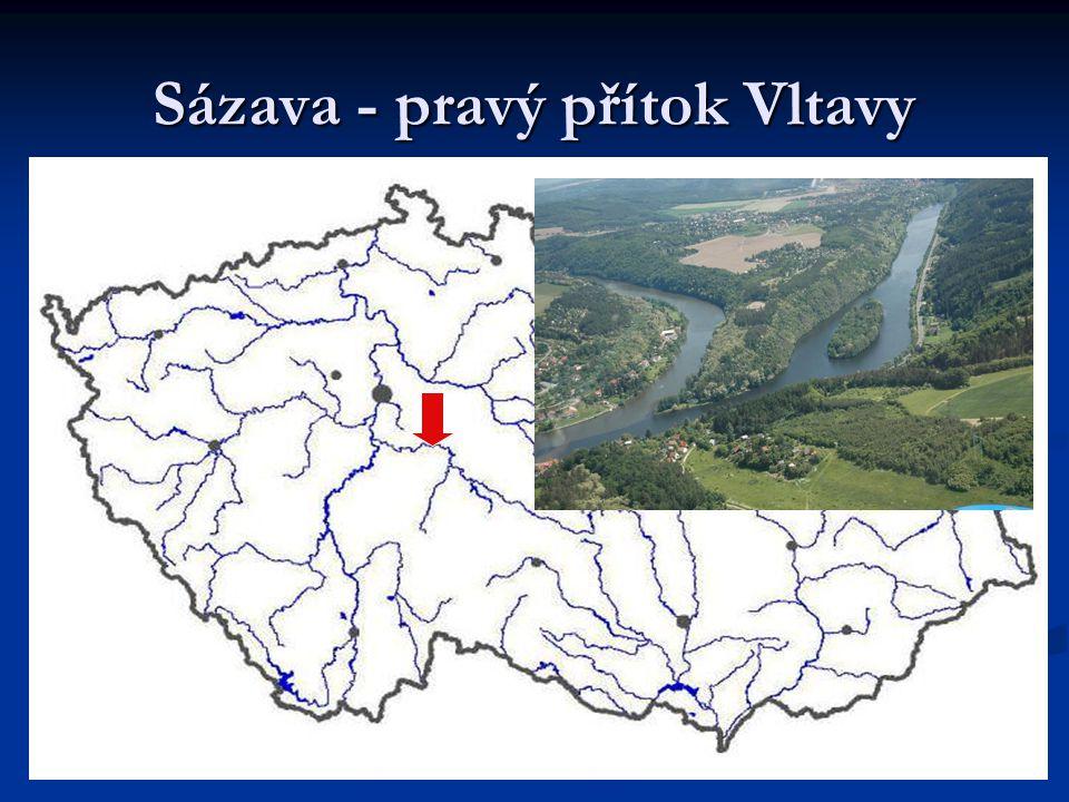 Sázava - pravý přítok Vltavy